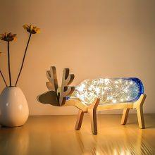 """北欧麋鹿手工吹制玻璃小夜灯,感恩一""""鹿""""有你"""