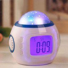 星空投影音乐电子闹钟,一款多功能的床头小闹钟