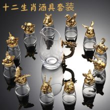 十二生肖酒具套装礼盒,彰显卓越品质的商务礼品
