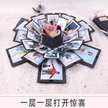 抖音同款爆炸盒子手工相册,超有创意的个性相册(超感动)